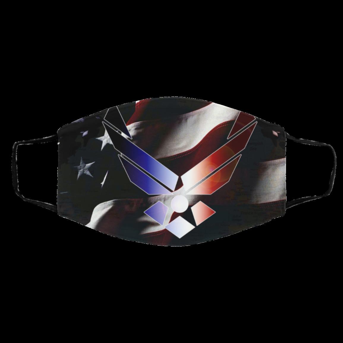 Ai-r For-ce – Us Ai-r Fo-rce Flag Face Mask