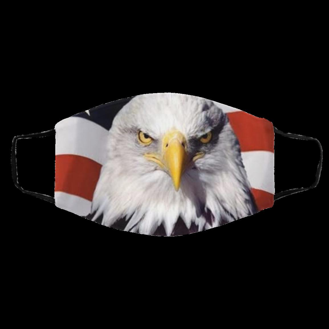 Ameri-can Flag E-agle Face Mask
