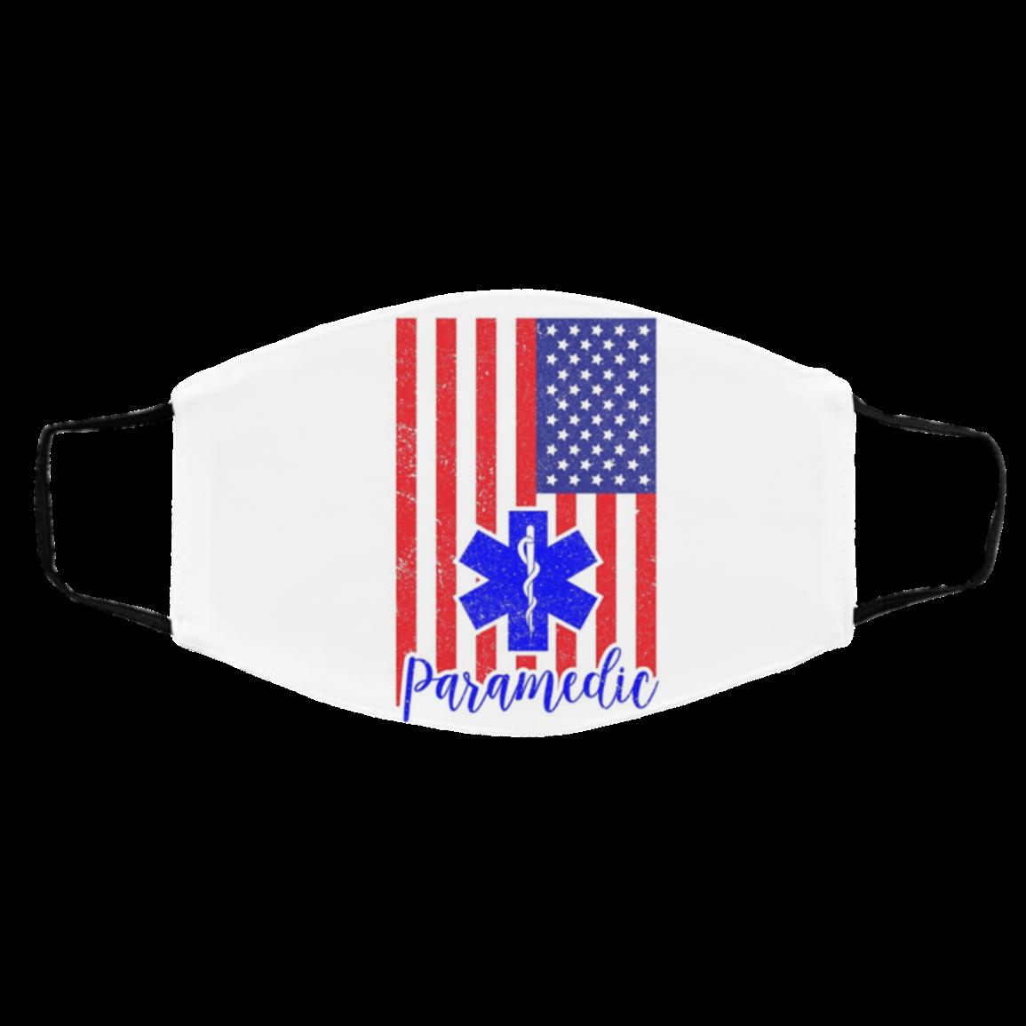 American Flag EMT Paramedic and Medic Filter Face Mask