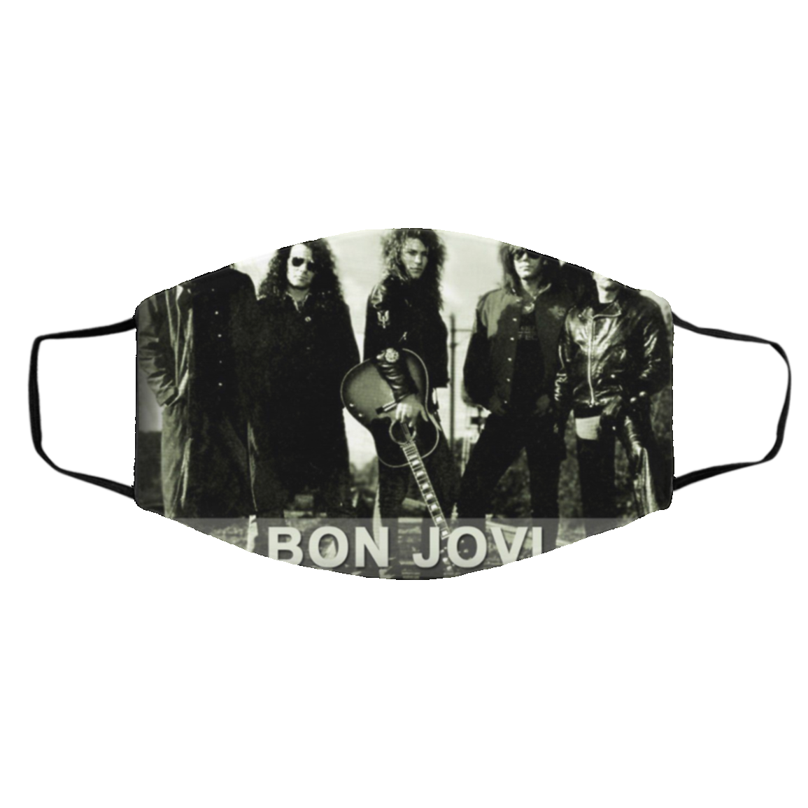 -Bla-ck Bo-n Jo-vi Face Mask Cloth Face Masks