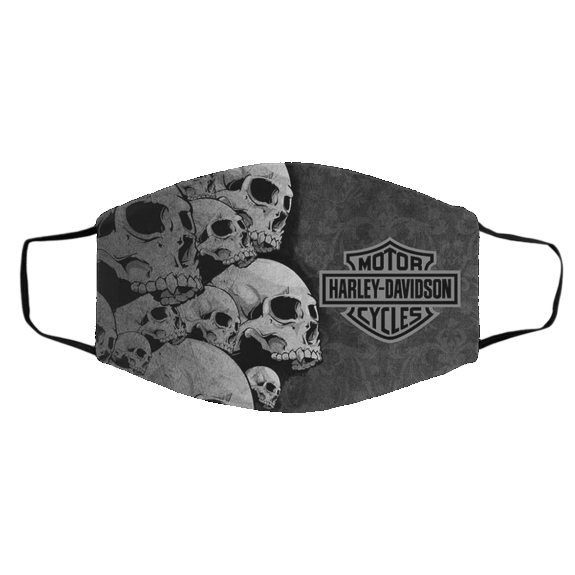 Ha-r-ley D-avi-dso-n Skull Flag US Face Mask
