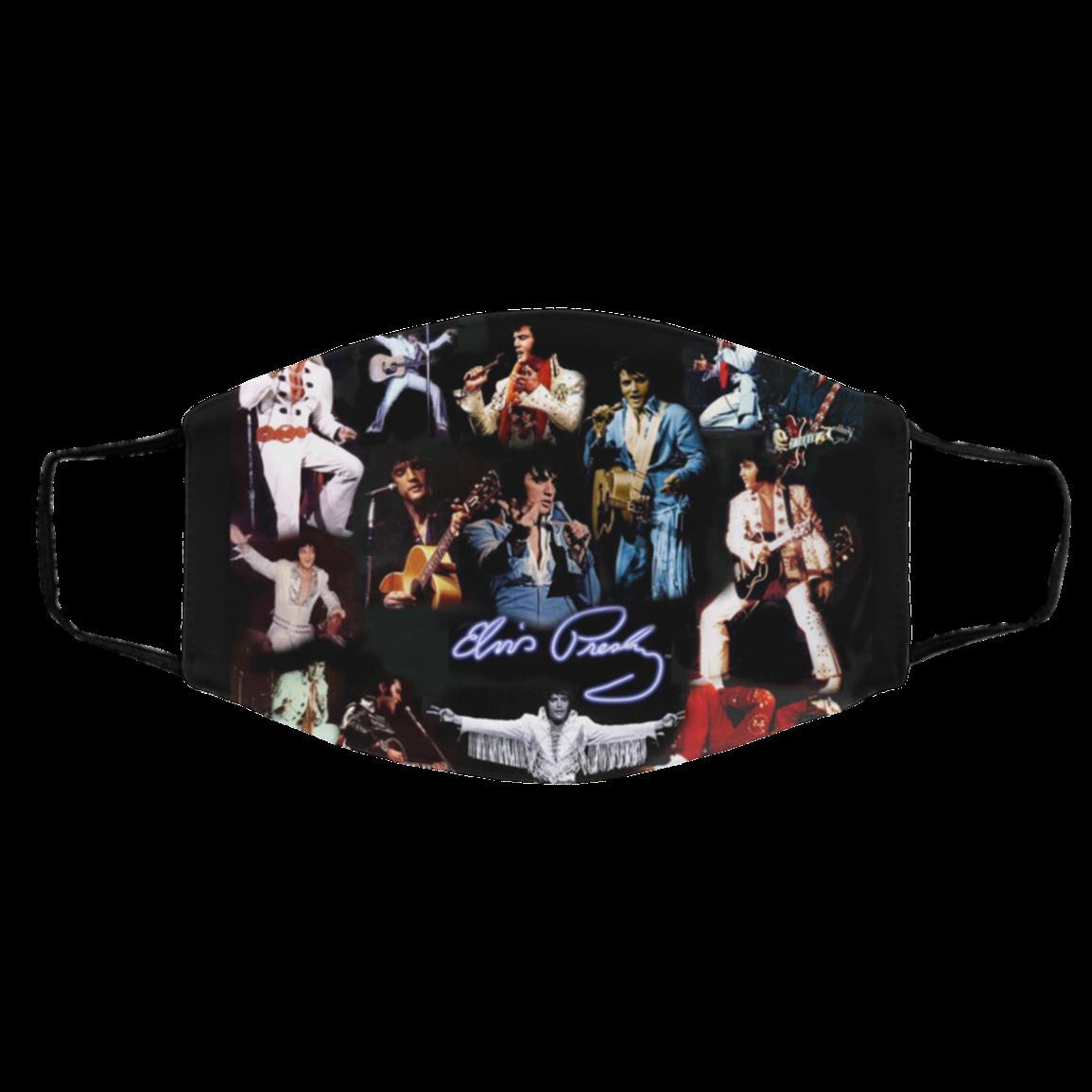 Elvis- Pres-y T-CB- Silh-ouette Face Masks