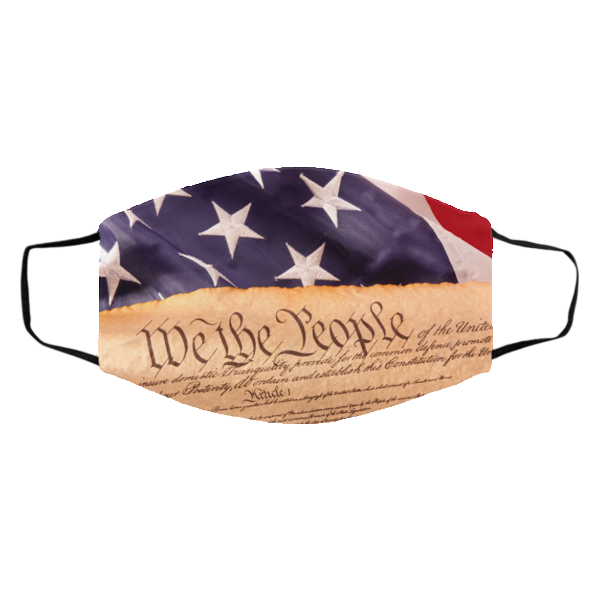 Amer-ican Flag Consti-tution Face Mask US 2021